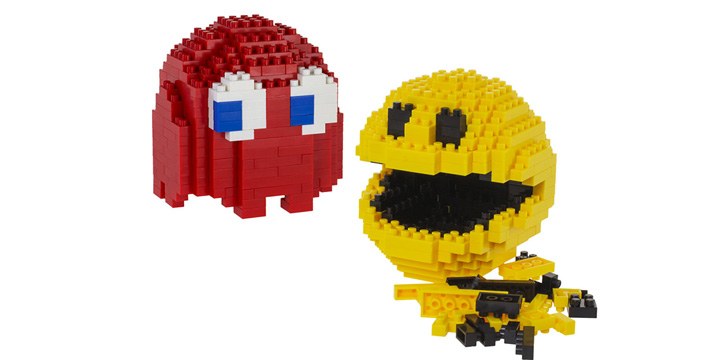 Un set Pac-Man Pixel en bricks