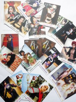 Nerd Block February 2015 Nerd Play Cosplay Trading Cards opened +10 Kapow-w640-h480