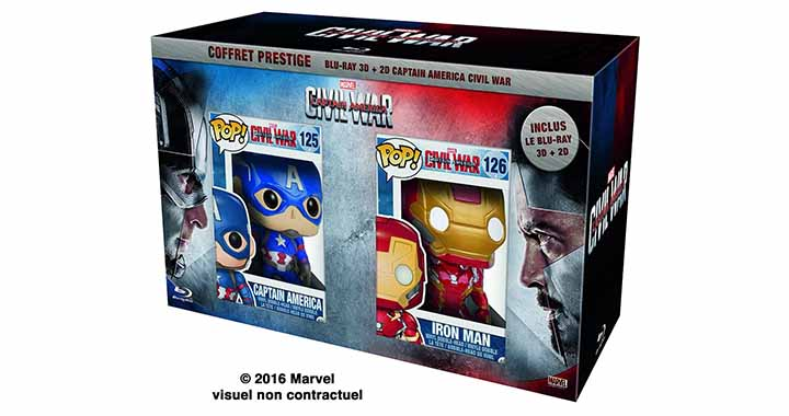 Coffret Civil War Prestige avec figurines Funko
