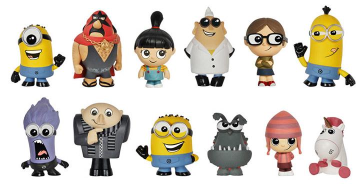 Figurines Funko Minions de Moi, Moche et Méchant