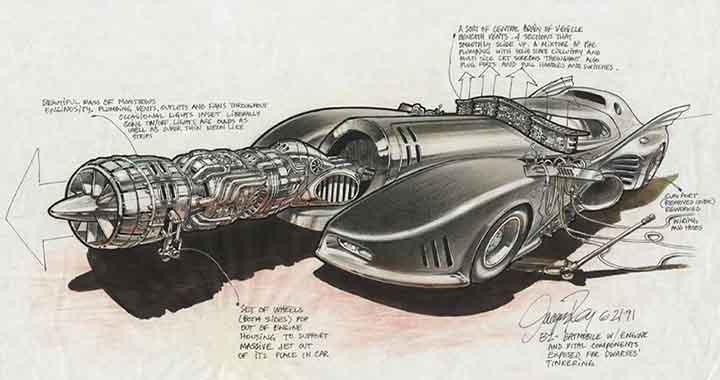 Le livre Batmobile, à travers les âges