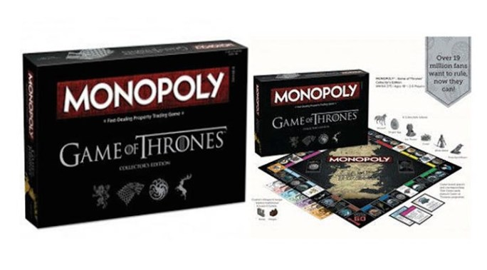 Monopoly Game of Thrones, le jeu de plateau