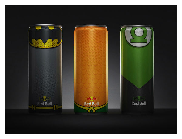 redbull super-héros superman flash batman aquaman wonder woman (1)