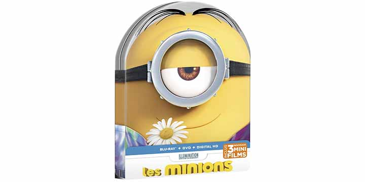 Le steelbook Minions en forme de tic tac jaune