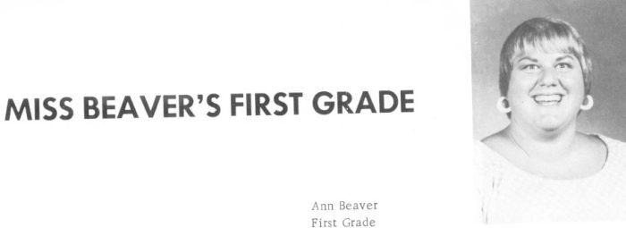 Miss Beaver First Grade