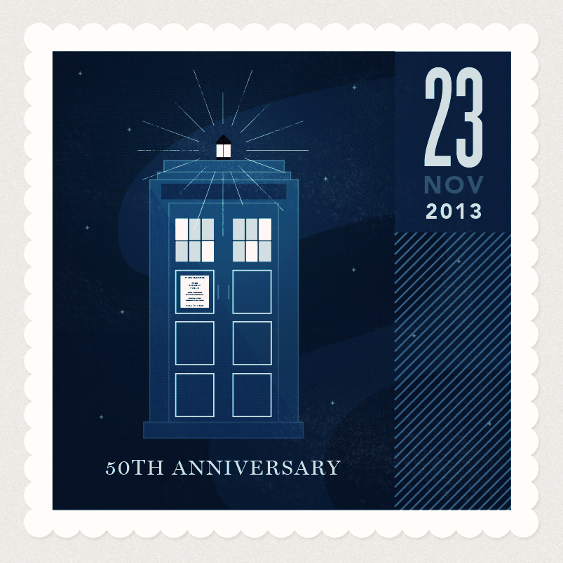 The Day of The Doctor Commerative Stamp