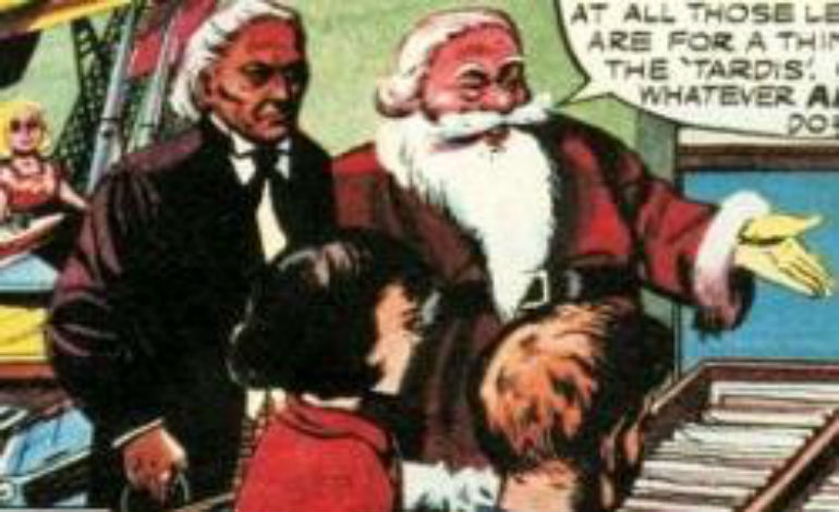 """The First Doctor first  meets Santa Claus in the 1965 comic """"A Christmas Story"""""""