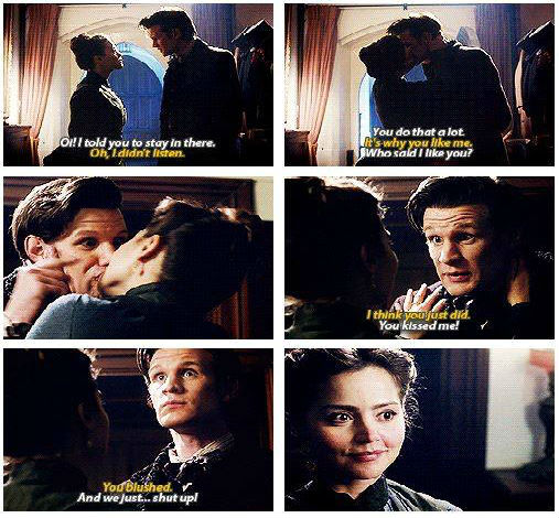 Clara and Doctor Kiss