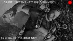 "POV radio shot of Chris Punching ""Pictured: Chris Redfield's biceps"""