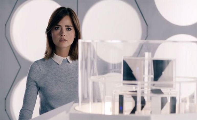 Clara in a Classic TARDIS