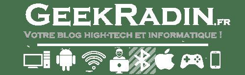 geekradin - logo blanc