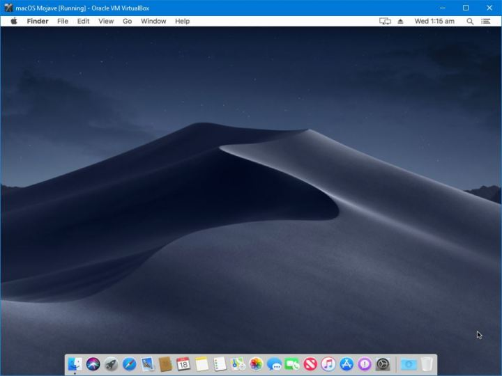 macOS Mojave on VirtualBox