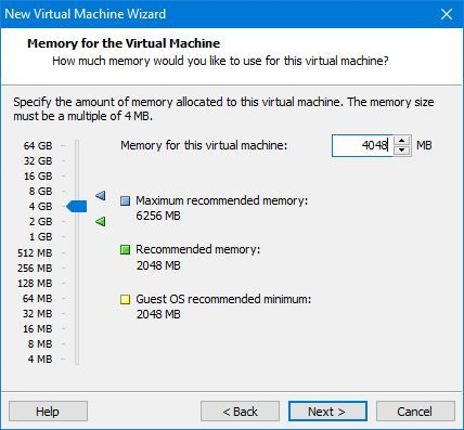 Increase Memory for VM