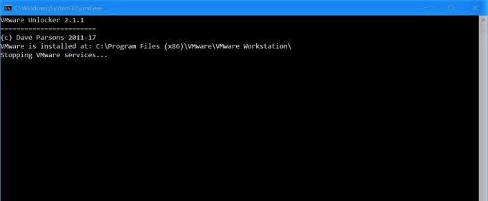 Stopping VMware services