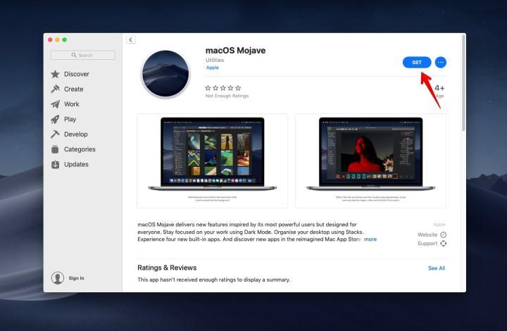 Get macOS Mojave on App Store