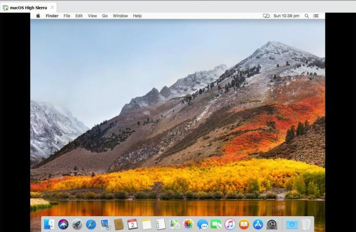 macOS High Sierra Running on VMware