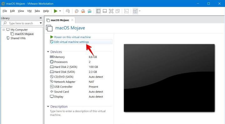 Edit Virtual Machine Settings