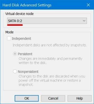 Hard Disk Advanced Settings