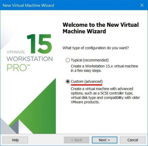 Create New Virtual Machine Wizard