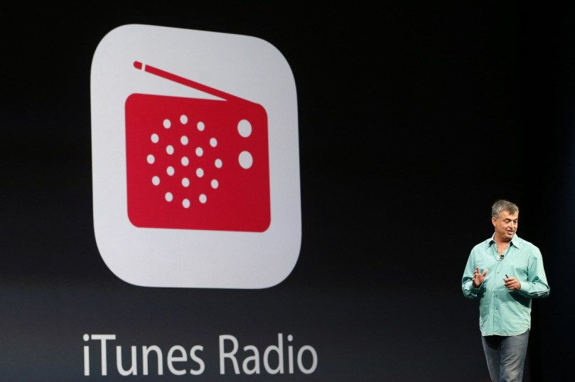 Eddy Cue, Apple senior vice president of internet software and services, introduces iTunes Radio during Apple Worldwide Developers Conference (WWDC) 2013 in San Francisco, California June 10, 2013. REUTERS/Stephen Lam