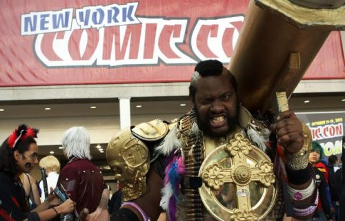 With a golden bazooka along with armoured cross gear, why would Mr. T need multiple 24-Karat gold neck-chains anymore? Wait a second... Mr. T was a comic book character? Tell me more.