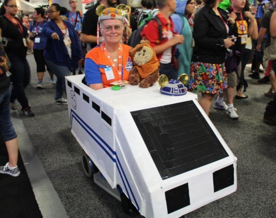 I have no idea what's going on here. Are the big movie executives planning to mash Star Wars and The NHL into a series while an older DeadMau5 provides the soundtrack? DeadMau5, known for driving Mayor Ford around the streets of Toronto last week, is showing off his Canadian roots at this years Comic-Con.