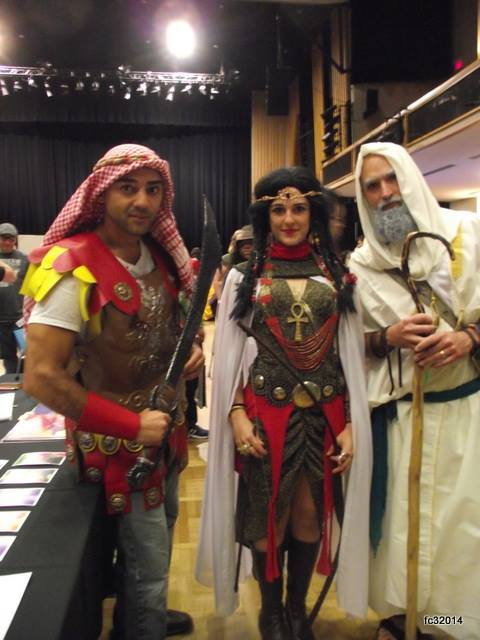 Marwan El Nashar and group Cosplaying as their characters Jinn Warriors