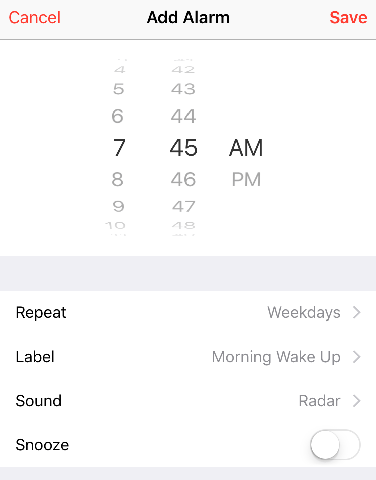 Set Alarms in iOS 9