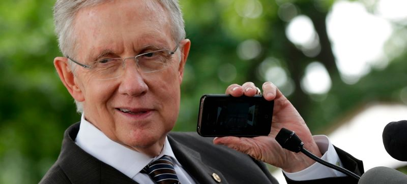 harry reid and phone