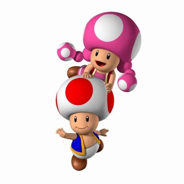 Toad et Toadette - Kirby Triple Deluxe - Nintendo 3DS