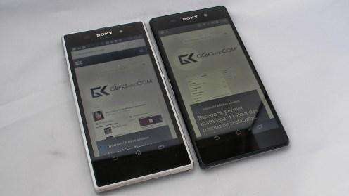 Test affichage Sony Xperia Z2