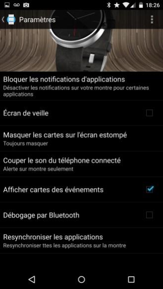 Motorola Moto 360 - Application Android Wear 5