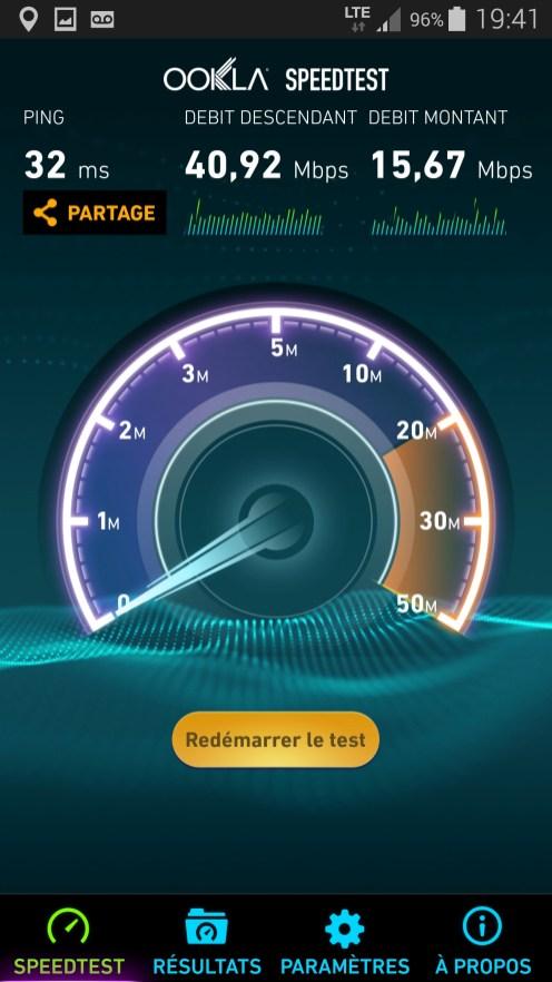 Speedtest Samsung Galaxy Note 4