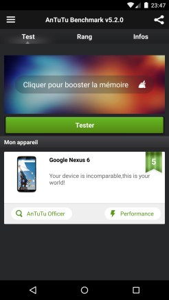AnTuTu - Nexus 6 (Motorola)