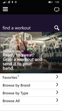 Application Mobile Microsoft Band 3
