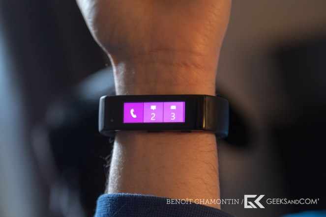 Bracelet connecte Microsoft Band - Test Geeks and Com -5