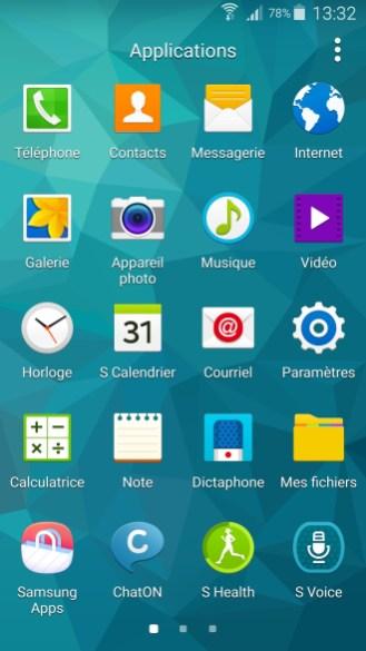 Applications du Galaxy S5