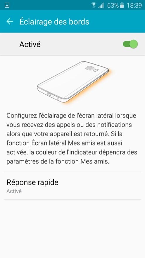 Galaxy S6 Edge Eclairage Bord 01