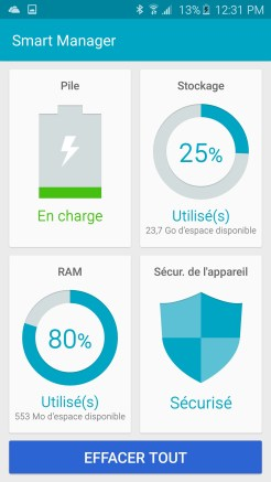 Galaxy S6 Smart Manager