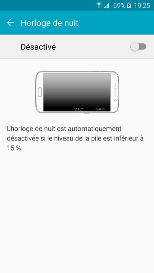 Galaxy S6 edge Horloge Nuit 01