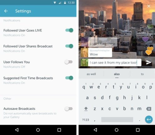 Periscope Twitter Android - Live Streaming 1