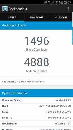 Geekbench 3 - Samsung Galaxy S6 edge plus - Geeks and Com 1