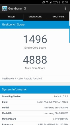 Geekbench 3 - Samsung Galaxy S6 edge plus - Geeks and Com 1