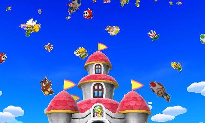 Mario & Luigi Paper Jam Nintendo 3DS Chateau de Peach