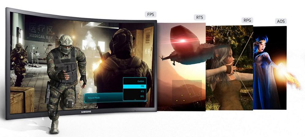 Samsung CFG70 menu
