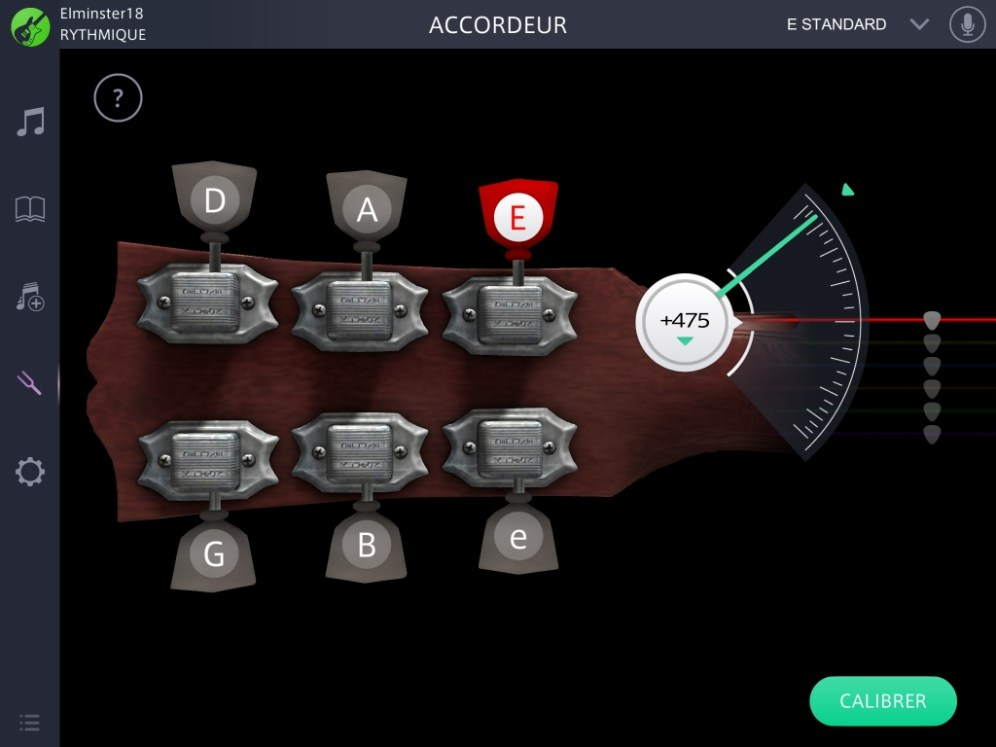 L'accordage de la guitare est rapide est simple