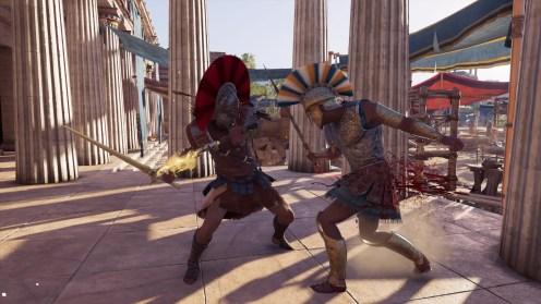 L'attaque spéciale d'Alexios, qui permet de donner plusieurs coups aux ennemis en échange de trois barres d'énergie.