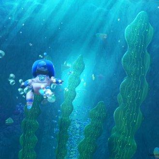 Astro Bot Rescue Mission Niveau sous l'eau