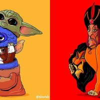 Famous Characters Unmasked in Funny Series of Illustrations