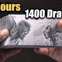 The Time That Went Into This Thanos vs Iron Man Flipbook is Incredible